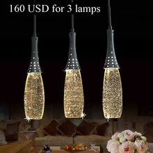 Modern fashion K9 Bubble Crystal LED Pendant Light whole sale price for dining room and restaurant(China (Mainland))