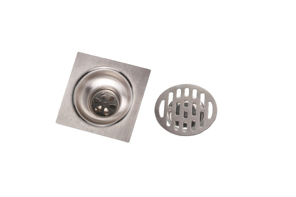 100x100mm Uomere New Shower Drain Bathroom Floor Drain Made of Stainless Steel<br><br>Aliexpress