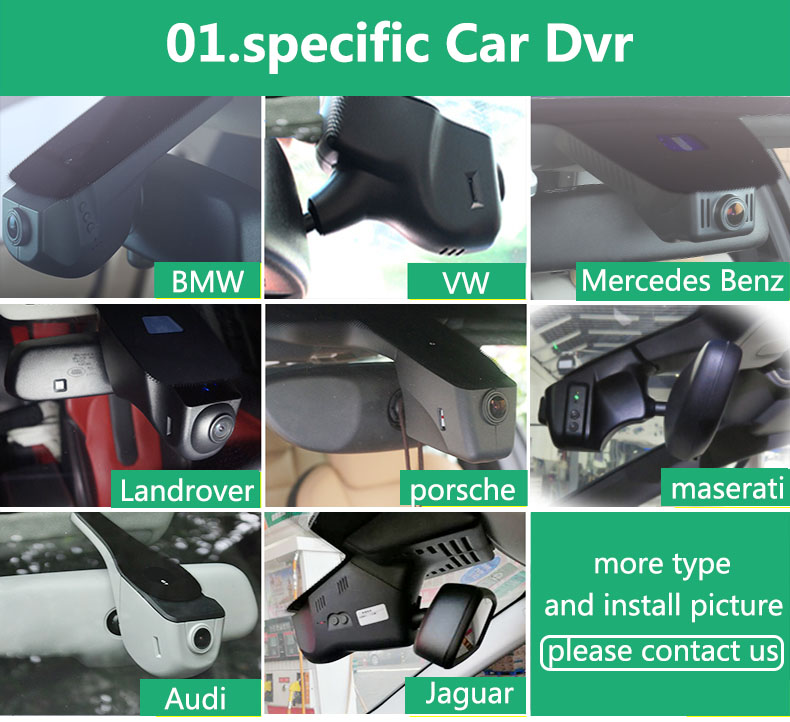 Special Car Dvr Vehicle Traveling Data Recorder Rearview Mirror HD 1080P 30FPS Car DVR Dash with Night Vision for Benz