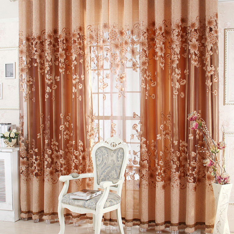 Fashion fashion lily curtains window screening finished product quality curtains Tulle Sheer Curtains for bedroom living room(China (Mainland))