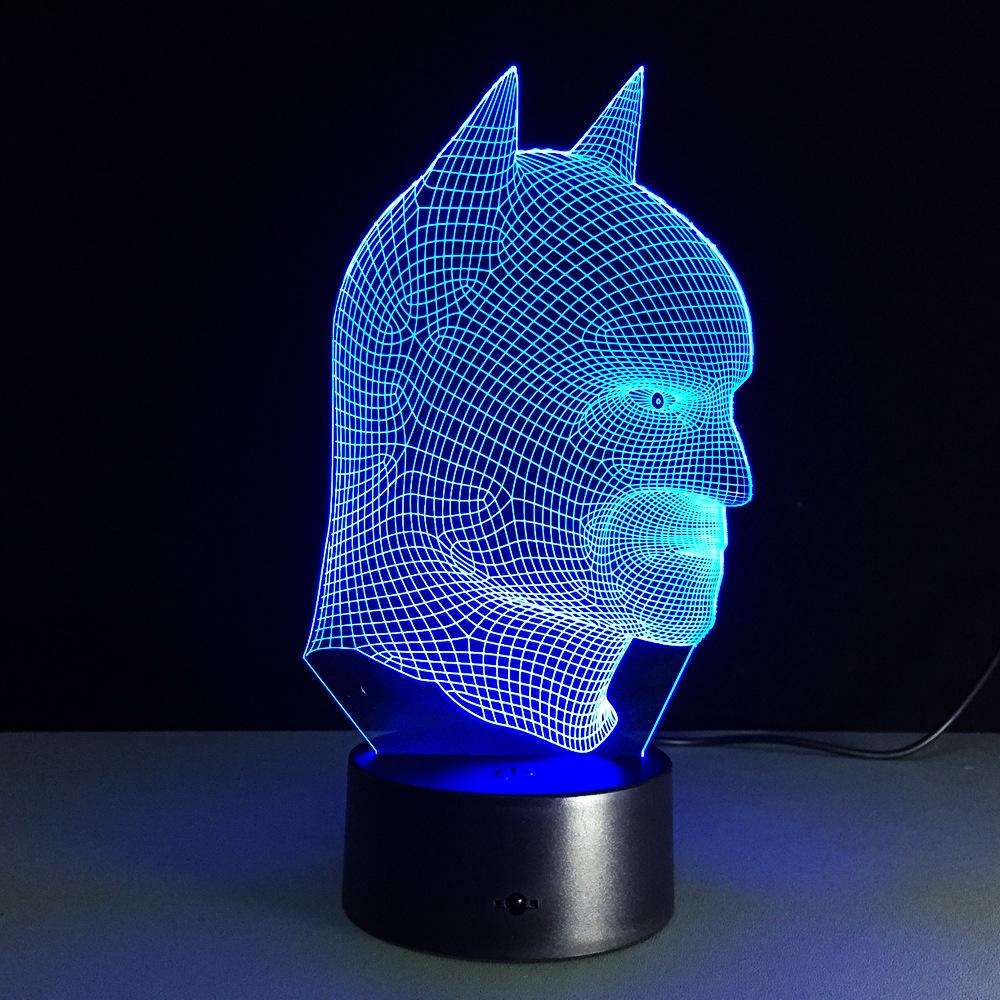 Table lamp vs desk lamp - Cool Christmas Gifts Batman Vs Superman 3d Acrylic Led Night Light Touch Switch Desk Table Lamp