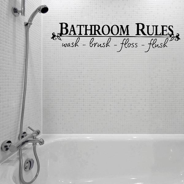Ванная комната правила цитата декор стены