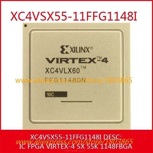 Free Shipping Diy Kit XC4VSX55-11FFG1148I IC FPGA VIRTEX-4 SX 55K 1148FBGA 1148 XC4VSX55 1pcs(China (Mainland))