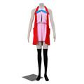 Pokemon X and Y Pocket Monster Serena Cosplay Costume Pink Dress Red Vest Adult Women Preppy