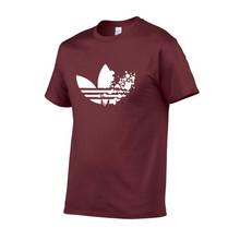 Хлопок случайные печать логотипа Мужская футболка Ультрамодный с коротким рукавом мужская футболка, Рубашка мужская футболка 2019(China)