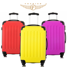3 Colors 1 Piece ABS Wear-resistant Upright Travel Trolley Rolling Luggage Suitcase 20 24 28 Spinner 4 Wheels Fochier XQ008(China (Mainland))