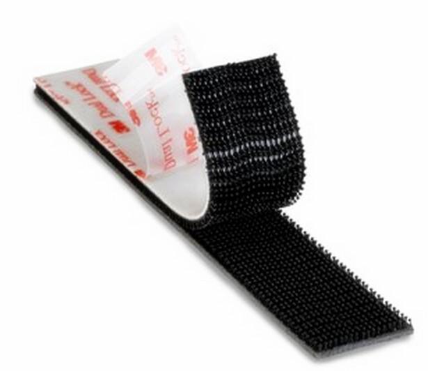 Free Shipping 25.4mm x 50cm 3M SJ3550 Black Dual Lock Bacing VHB adhesive tape Type 250 Mushroom Velcro Tape(China (Mainland))
