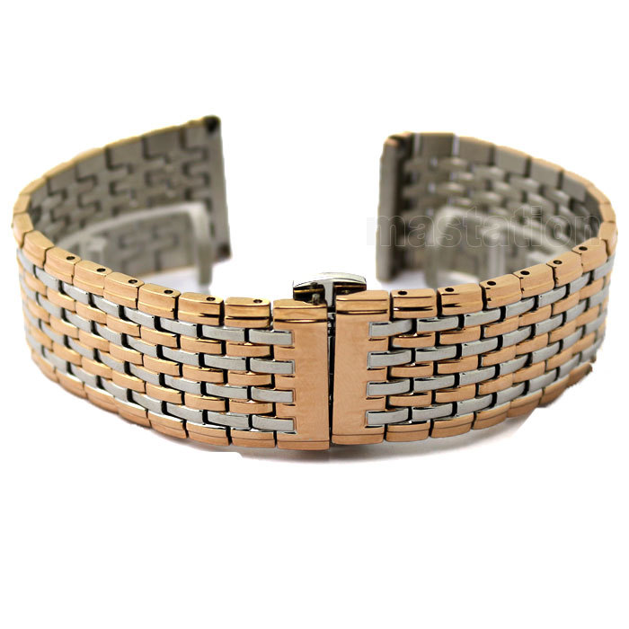 20mm New Rose Gold silver Stainless Steel Watch Mesh Bracelets Straps Replacement Band Safety Buckle Clasps - Fashion511 store