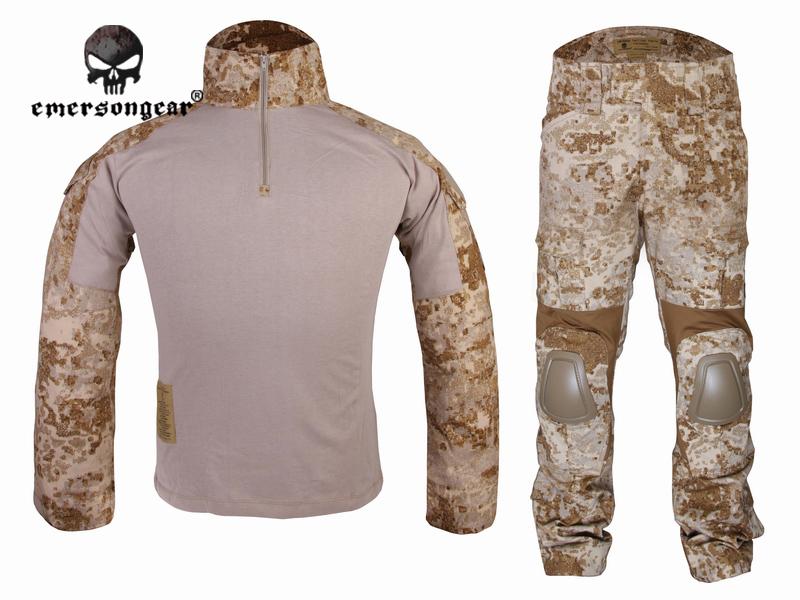 Emersongear Gen2 Combat uniform Shirt& Pants with knee pads&elbow pads Tactical Gear Military Camouflage EM6976 Sandstorm SS