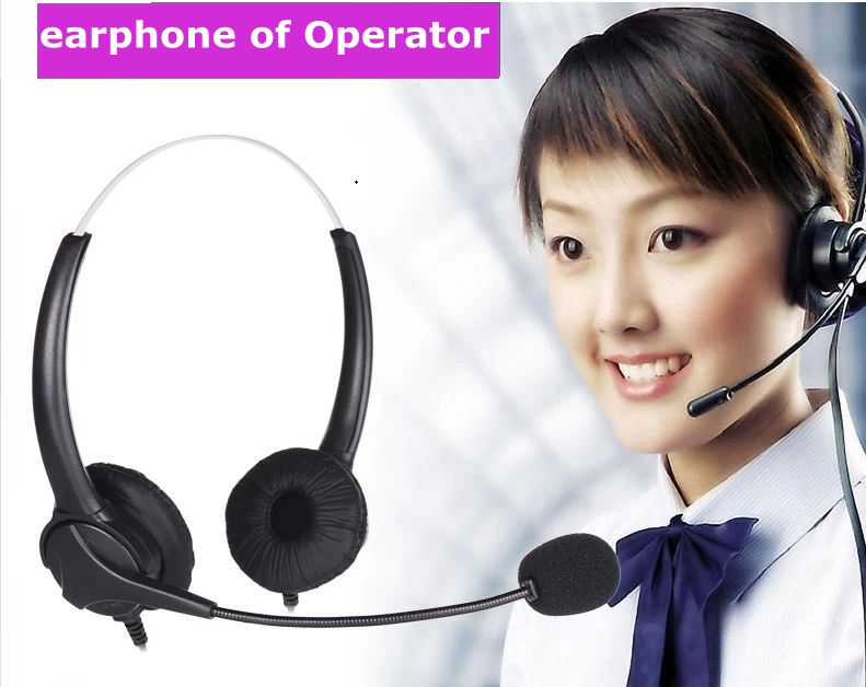 Ear type RJ09 telephone operator dedicated call center headsets ordinary telephone headset plug(China (Mainland))