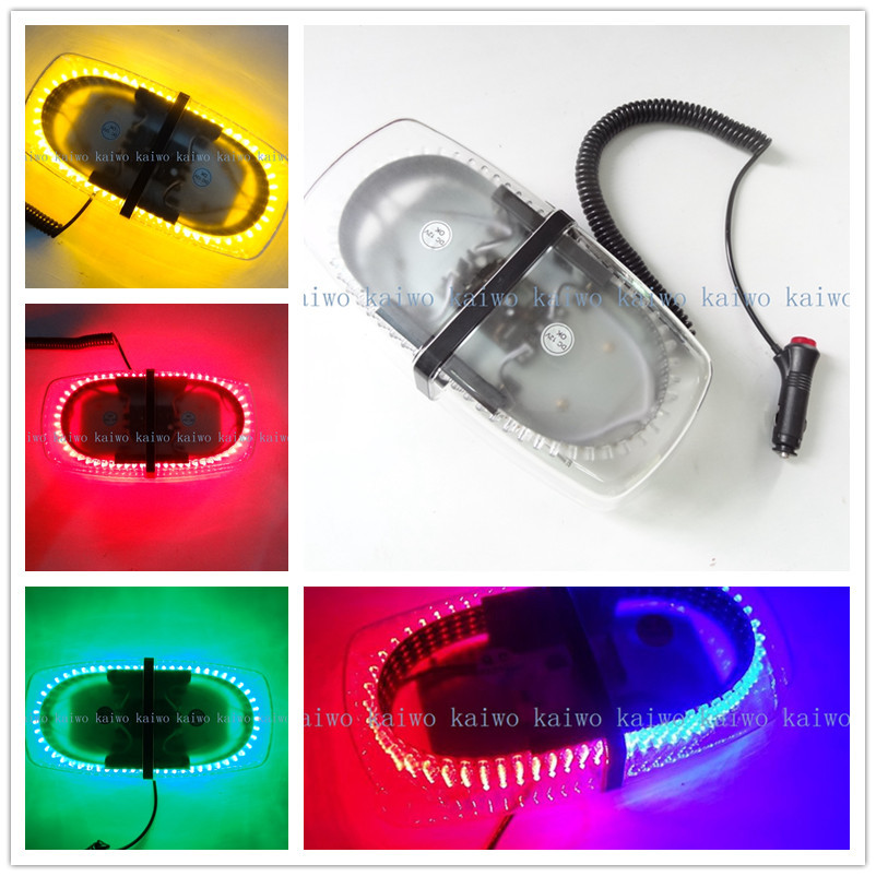 free shipping 112A 240 LED Car Roof Flashing Strobe Emergency Light Amber/White New 240LED DC 12V(China (Mainland))