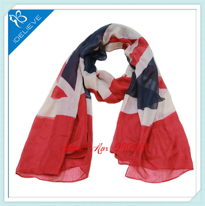 Wholesale 10pcs Free Shipping British Style Plaid Scarf British Flag Scarf UK Flag Man And Woman Accessories Fancy Neck Shawl(China (Mainland))