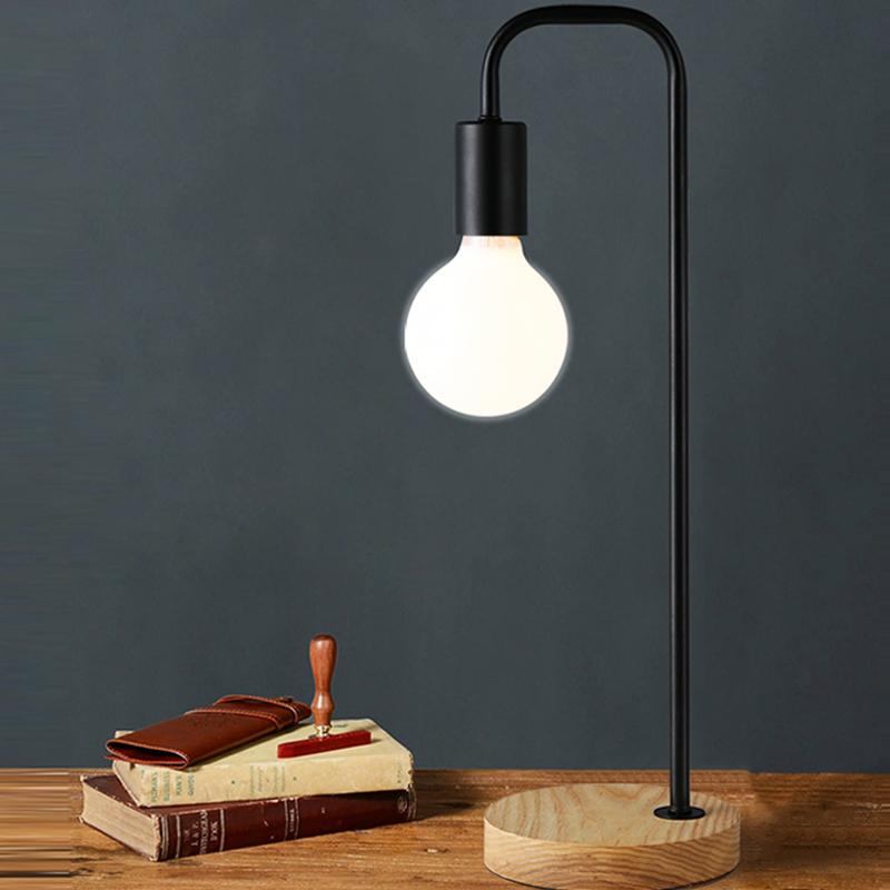 LED Table lamp Light Modern Solid Wood Desk Lamp Lights for Home Decoration Bedroom Reading Room(China (Mainland))