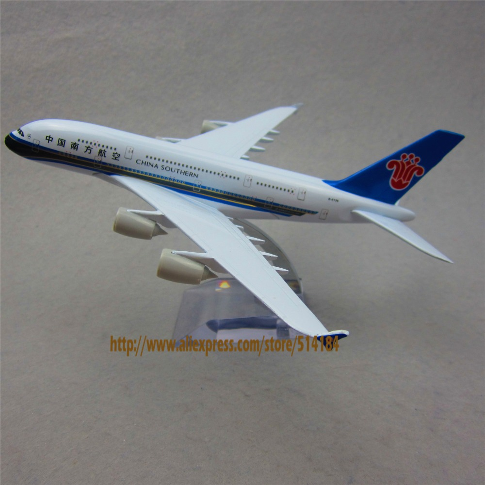 20cm Metal Alloy Plane Model Air China Southern Airlines Aircraft Airbus 380 A380 Airways Airplane Model w Stand(China (Mainland))