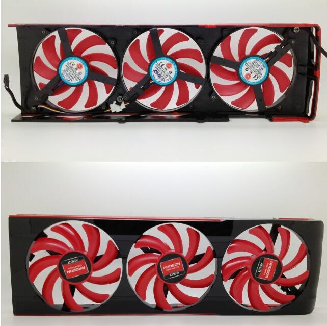 Охлаждение для компьютера AMD ATI HD 7990 VGA HD7990 , MGT8012YR-W20 4pin mgt8012yr w20 graphics card fan vga cooler for xfx gts250 gs 250x ydf5 gts260 video card cooling