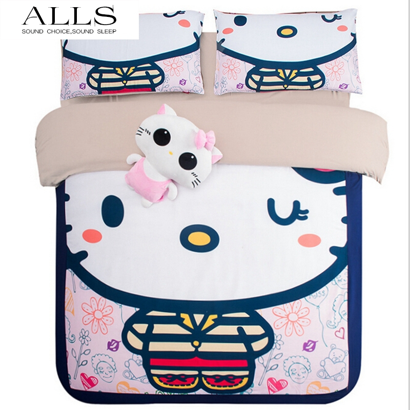 hello kitty beautiful lovely stars and flowers 3 piece toddler bedding