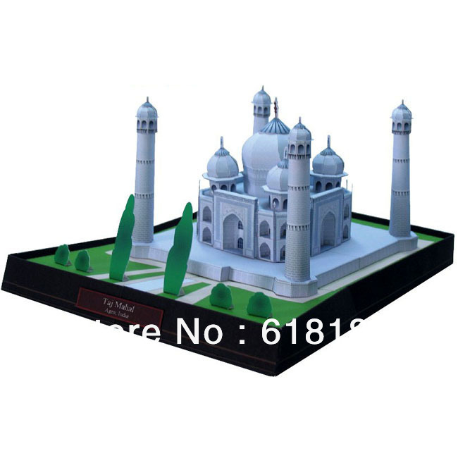 Free shipment 2016 new diy paper model house India Taj Mahal World famous buildings 3d puzzle children educational toys craft(China (Mainland))
