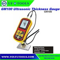 Ultrasonic Thickness Gauge GM100. electronic thickness gauge 1.2-225.0mm(Steel)