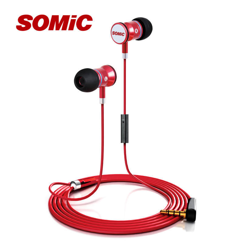 Somic MH405 In-ear Earphone Sport Headset With Mic Super Bass Music for PC Mobile Phone Android PS3 PS4(China (Mainland))