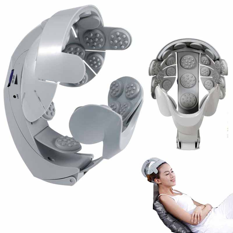 Electric head massager vibrating Humanized design health care spa happy massage head device relax body brain acupuncture points(China (Mainland))