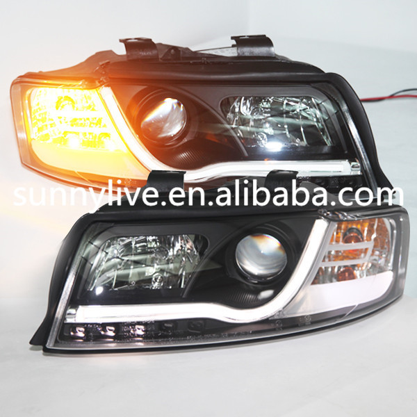 For Audi A4 B6 LED head lights front light Head lamp with Projector lens SN Type 2001--2004 year(China (Mainland))