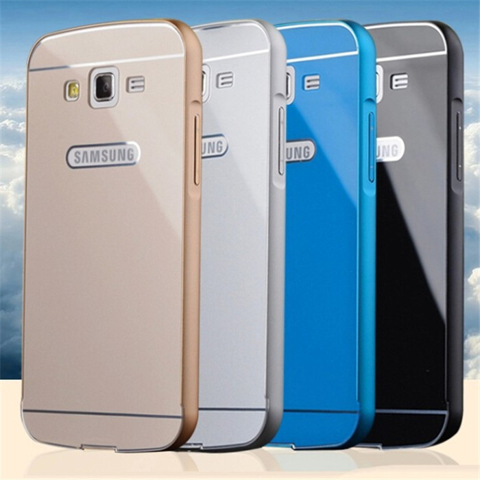 G7106 Aluminum Metal Frame And PC Back Cover Case For Samsung Galaxy Grand 2 Duos G7102 G7106 G7108 Cell Mobile Phone Bag Cases(China (Mainland))