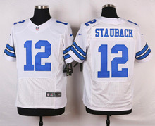 Dallas Cowboys #12 Roger Staubach #9 Tony Romo #8 Troy Aikman Elite White and Navy Blue Team Color High quality(China (Mainland))