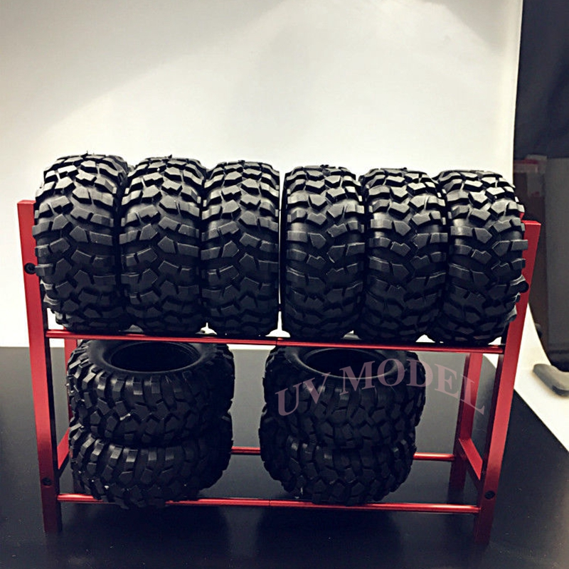 Cool Red RC Truck Tyre Rack for 1/10 Wheel Rims Tire RC4WD SCX10 D90 CC01 F350 Top Quality Free Shipping(China (Mainland))