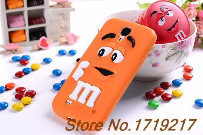 Cute Cartoon Colorful Cute M&M Candy bag capa de celular capinha para Silicone Case for iPhone SE/5s carcasa funda coque cover
