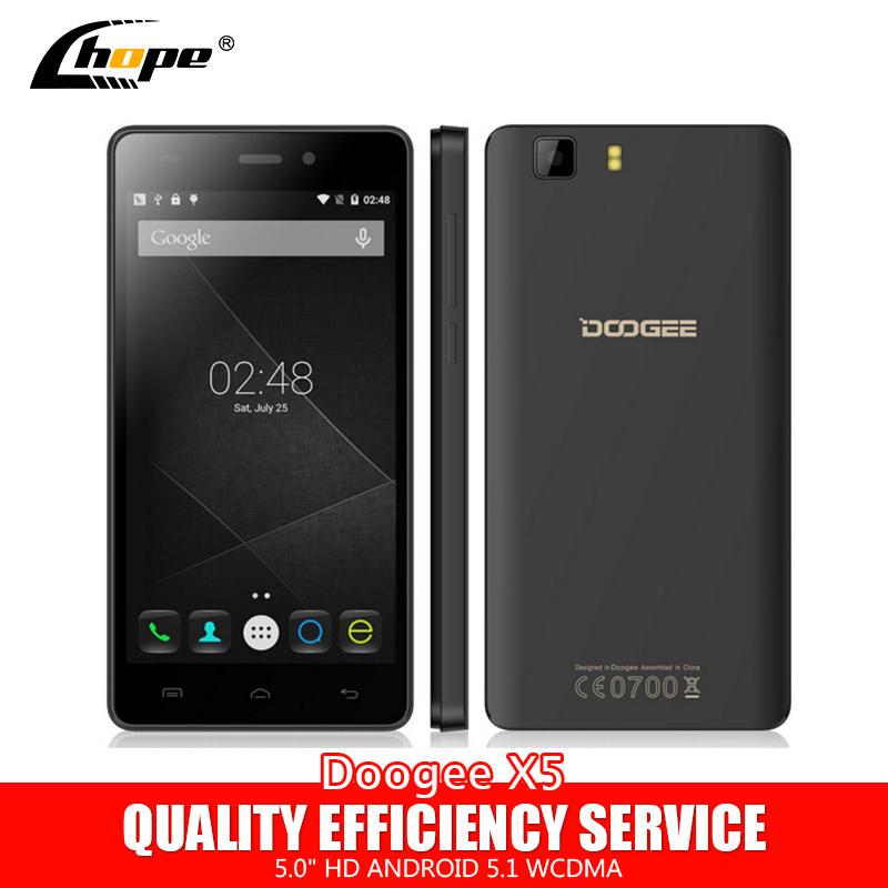 "Original Doogee X5 X5C MT6580 Quad Core Android 5.1 Cell Phone 1GB RAM 8GB ROM 5.0"" HD 1280*720 IPS 5.0MP 2400mAh Dual SIM WCDMA(China (Mainland))"