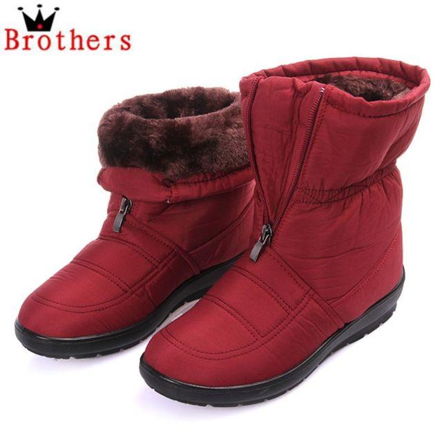 Size35 - 42 новые 2016 женщин сапоги свободного покроя зимние ботинки снегоступы водонепроницаемый женщин теплый скольжения - противоскользящая обувь женщина
