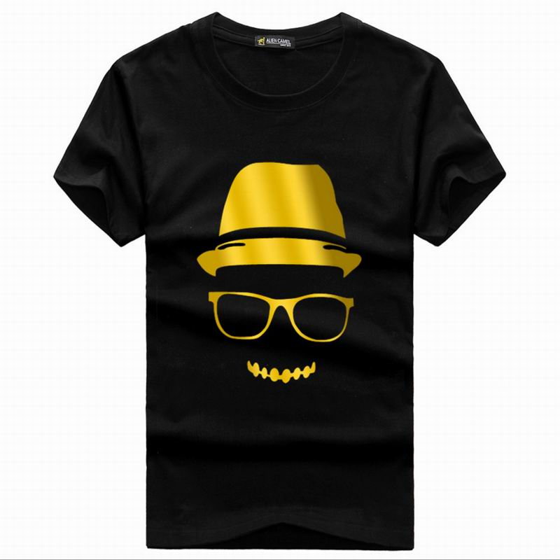 Kids Gilt Print T Shirt Summer Style Party Club Cotton Children Kids Neon Print T Shirts Cartoon Animation T Shirt(China (Mainland))
