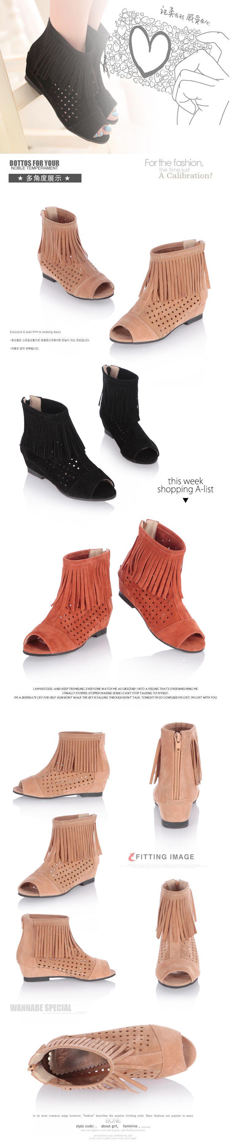 Hollow Summer Women Boots Hidden Increasing Height Ankle Boot Flat