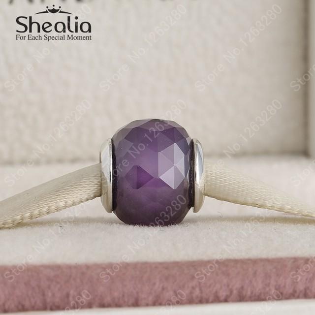 925 автор отверстия геометрические грановитая фиолетовый ааа циркон шар прелести бусины для женщин браслеты DIY изготовление ювелирных изделий