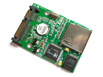 SDHC / SD MMC RAID Card to SATA Adapter Card Free Shipping(China (Mainland))