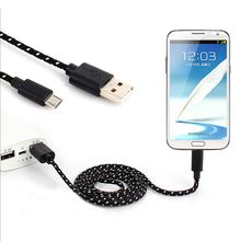 Buy 1M 2M 3M mobile phone Fabric Nylon Braided Micro USB Cable Charging Cord Charger data cable Samsung Galaxy S3 s4 s6 LG G3 G4 for $1.44 in AliExpress store