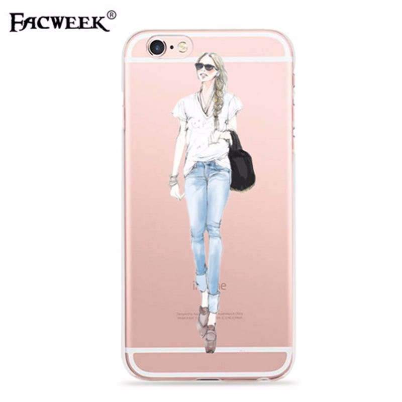 Beauty Fashion Show Pattern For Iphone Se Case Soft Silicone Hollow Out Back Cover Phone Case Coque For Iphone 6 6s Accessories