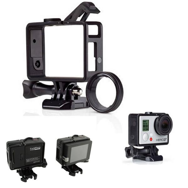 2017 New For Gopro Hero 3/3+/4 Standard Frame For Gopro Standard Frame(Camera+LCD BacPac/Battery BacPac) UV Lens Kit