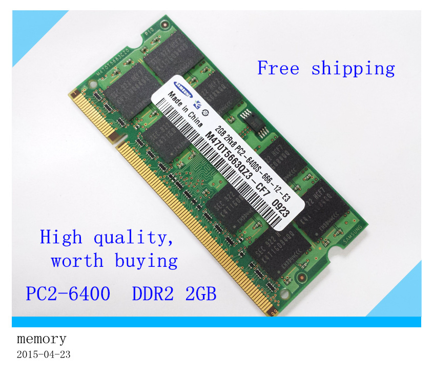 ORIGINAL AND BRAND RAM , sodimm 1gb 2gb ddr2 Laptop memory 800Mhz/667MHZ/533MHZ. Compatible with all DDR2 laptops(China (Mainland))