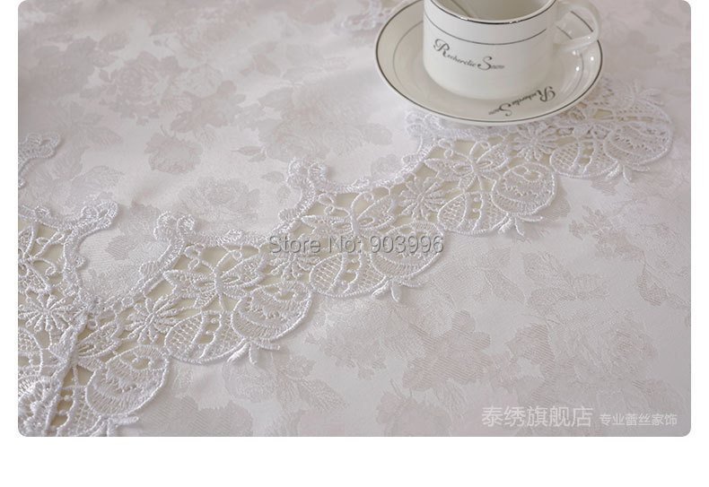 Free shipping-T81617-8-size:100*150cm-Bleach white lace table cloth tablecloth Easter egg coffee table coffee table cloth cover(China (Mainland))