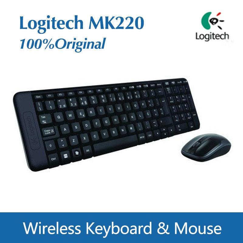 Free shipping Gaming Keyboard Original Logitech MK220 Wireless keyboard + Mice combo USB Keyboard(China (Mainland))