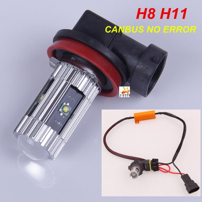 2 x error free canbus h8 h11 cree led fog light dr for. Black Bedroom Furniture Sets. Home Design Ideas