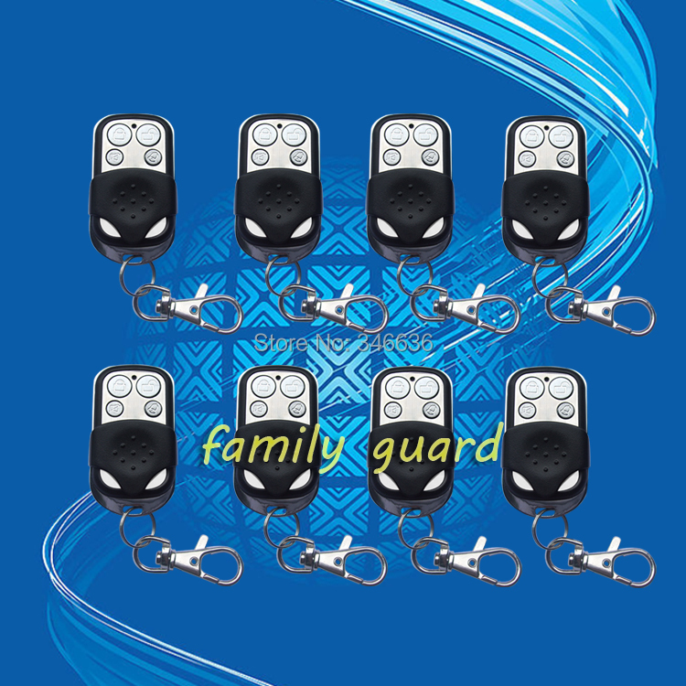 free shipping Wolf Guard  8 Pcs/Lot Wireless Remote Control Key for Home GSM Alarm Systems 433MHz