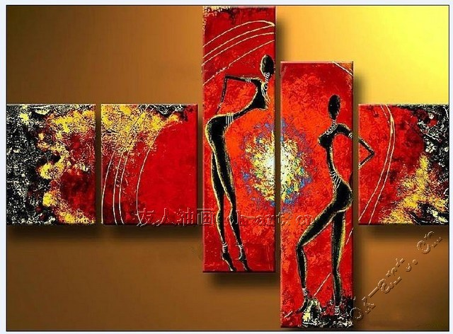Abstract Human Paintings Abstract Oil Painting on