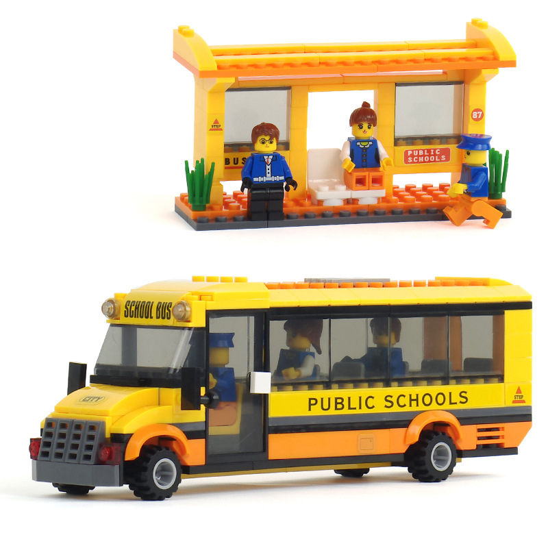 New Original City bus station 293pcs/set Building Blocks Educational Bricks Toys Compatible with lego city school bus original(China (Mainland))