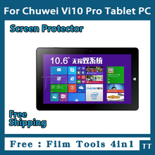 3 pieces/lot HD Screen protector for Chuwi Vi10 Pro Tablet,Chuwi Vi10 Pro Protective Film Free Shipping+4 in1 Film Tools
