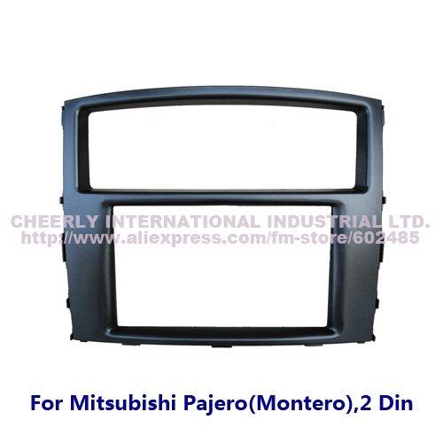 Double Din Car Adapter Mitsubishi Pajero/Montero Fascia Facia Radio DVD Stereo Audio CD Panel Face Plate Kit Frame Bezel - Cheerly International Industrial Ltd. store