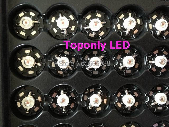 3w Orange color led lamp with star PCB 600nm 615nm High Power LED Greenhouse Vegetable Lighting 1000pcs/lot DHL free shipping(China (Mainland))