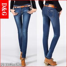 2016 New jeans woman;denim pants medium waist blue slim elastic skinny Jeans woman narrow feet Denim trousers