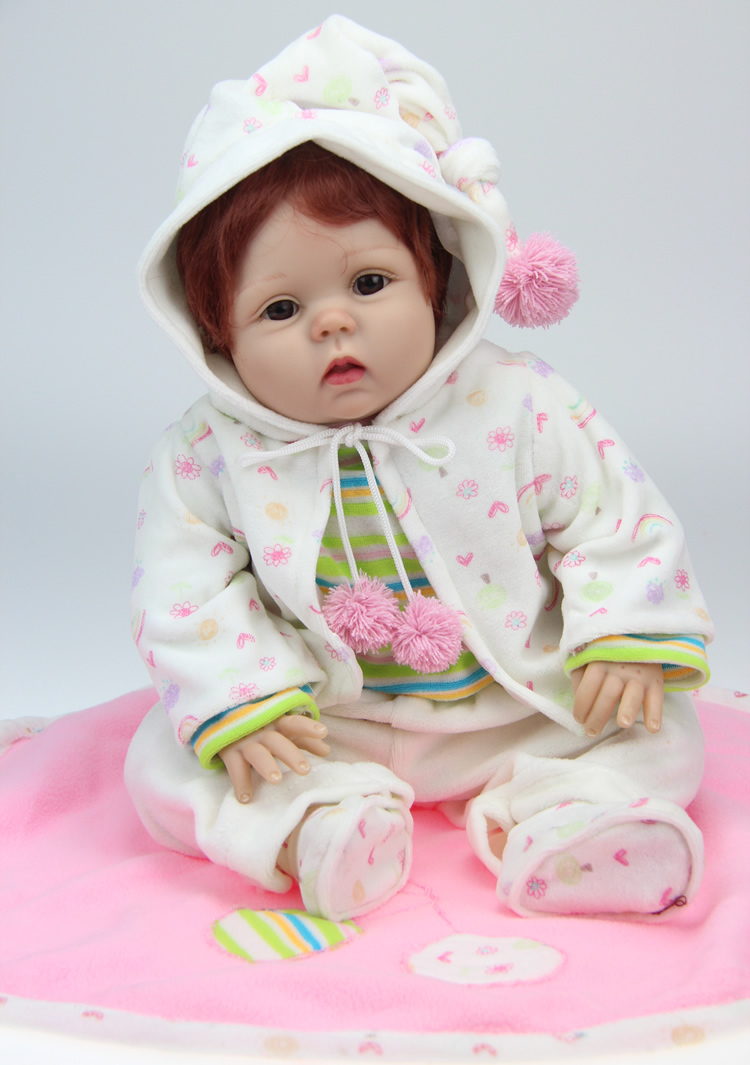 Top quality 55cm cute with clothes boy silicone reborn baby dolls boneca reborn for kids39 gift for Best reborn baby dolls